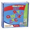 Alfabeto Móvel - 60 Pçs - Mdf - 601-151[925]