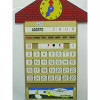 Casinha Calendario com Relógio em Mdf 58 Pçs - 1522