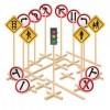 Placas de Trânsito 14 Placas e 1 Semáforo Simples - 3153