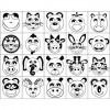 Carimbo Animais Diversos P/ Colorir - 100